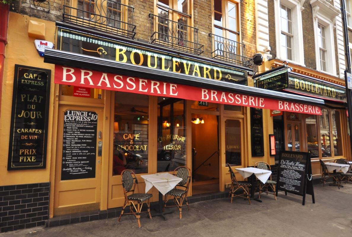 Boulevard brasserie covent garden west end of london for Best private dining rooms west end