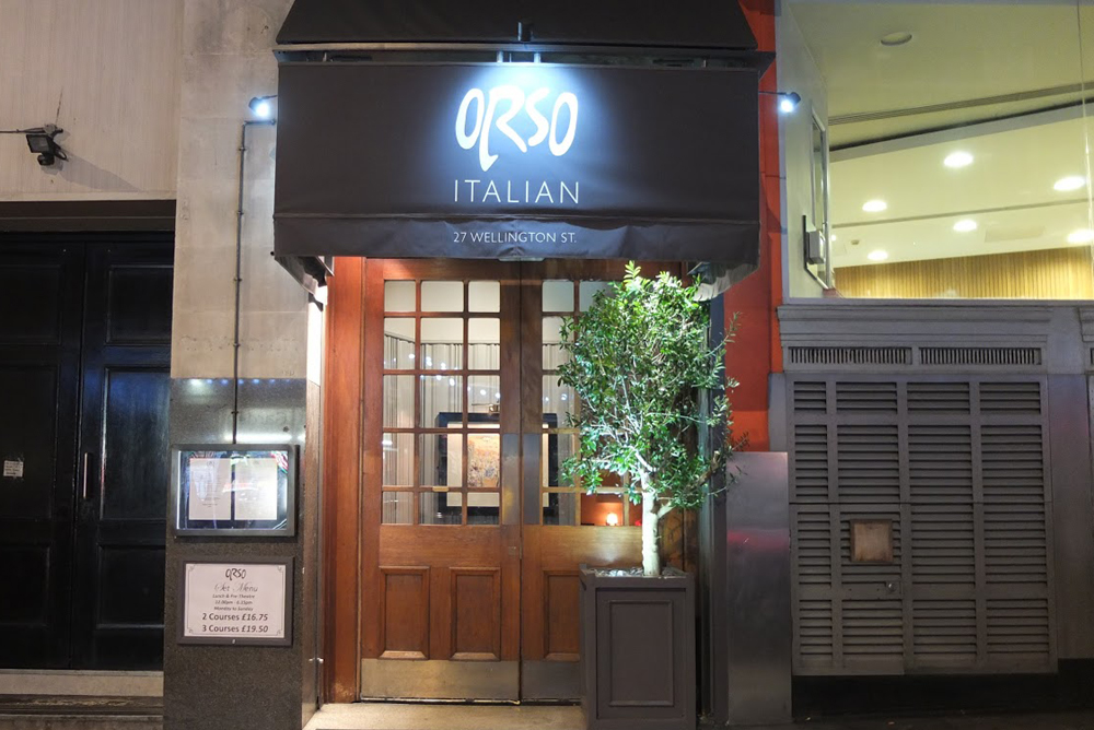 Reserve a table at Orso - Covent Garden