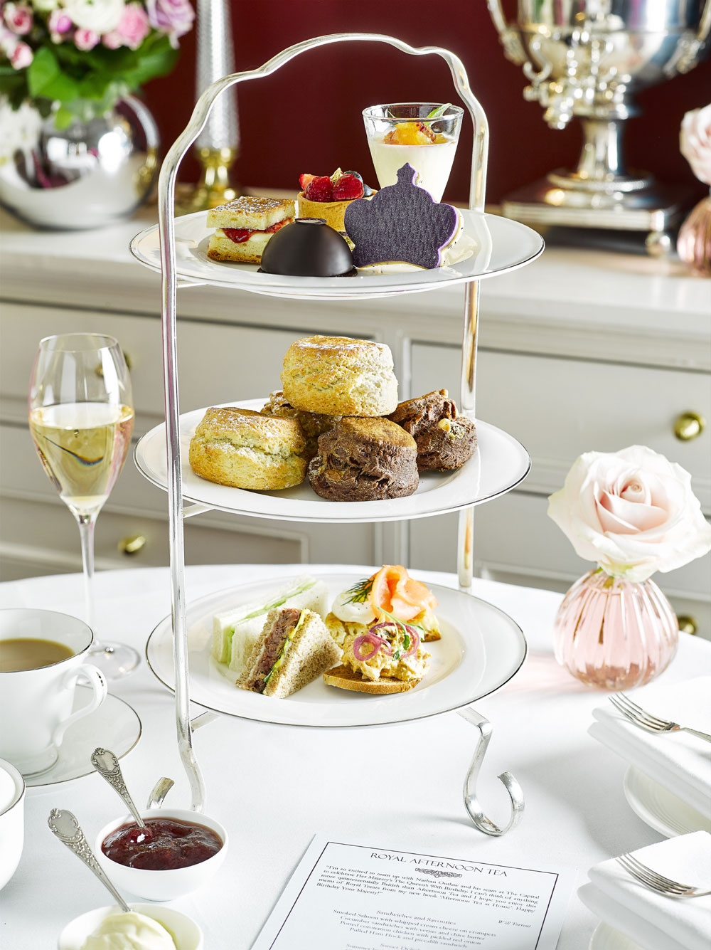 Afternoon tea with free-flowing cocktails £32 per person
