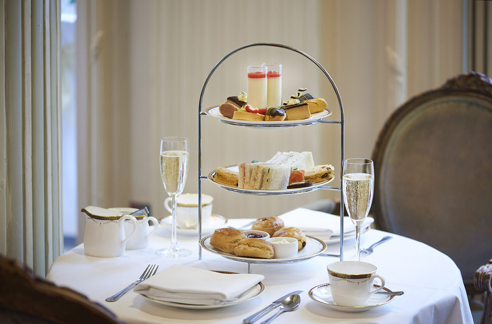 Afternoon tea with free-flowing champagne £48.50 per person