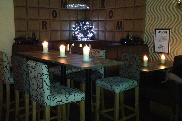 Aroma cafe bar nantwich cheshire bookatable for Best private dining rooms cheshire