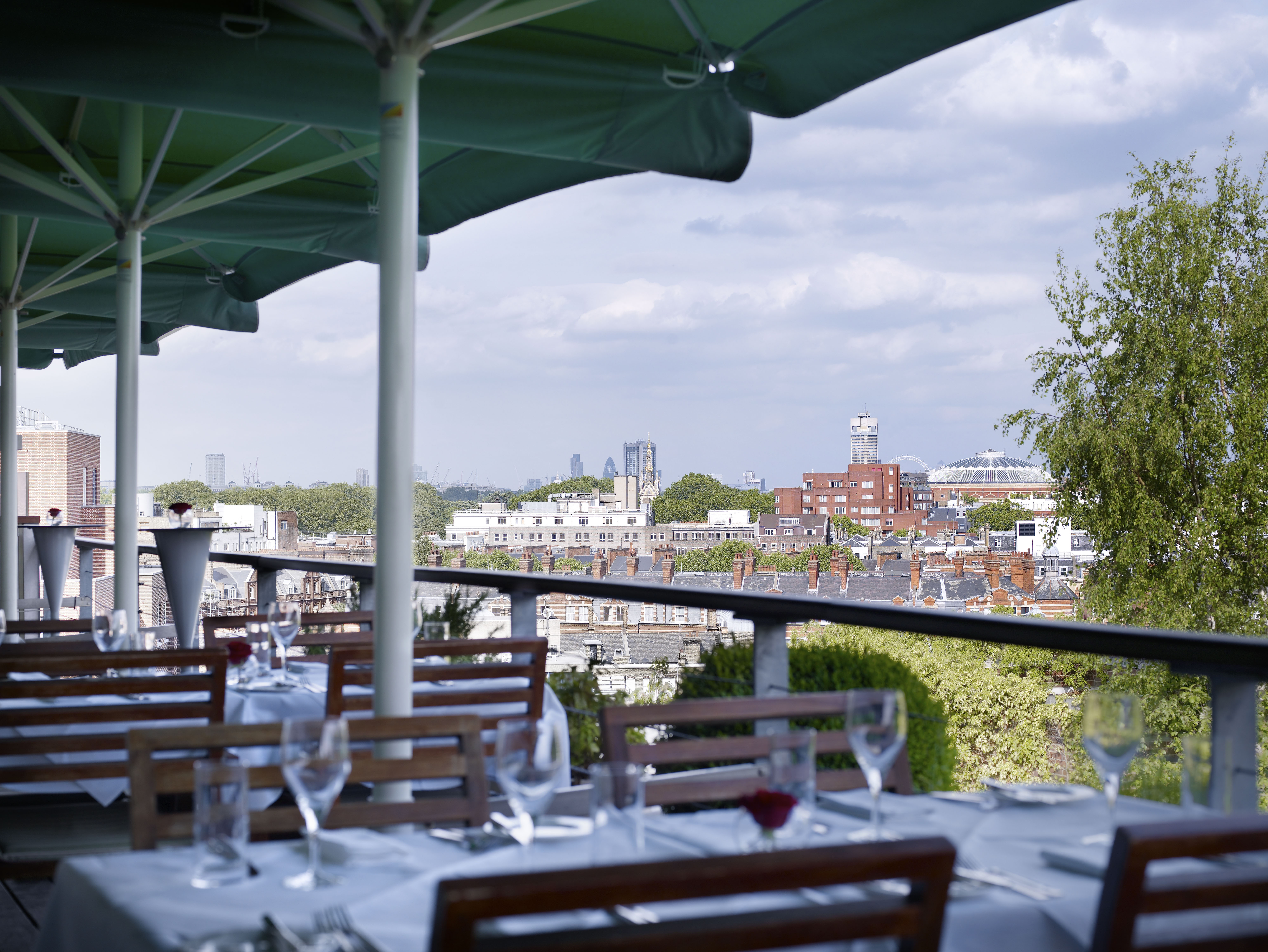 Reserve a table at Babylon Roof Gardens