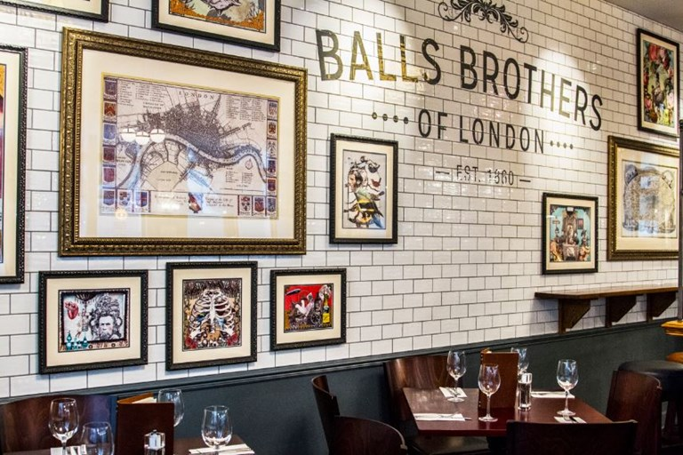 Balls Brothers Bury Court Aldgate London Bookatable