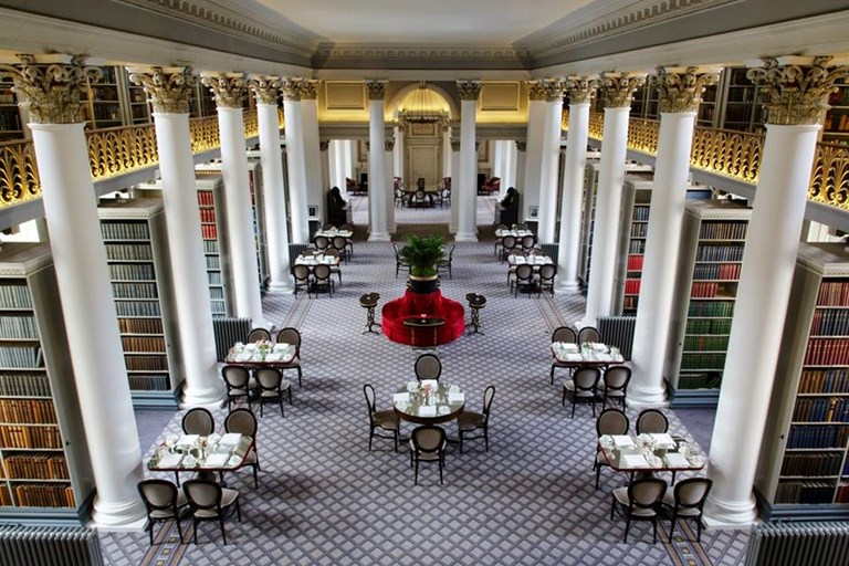 Colonnades at the signet library edinburgh bookatable for Table 85 hours