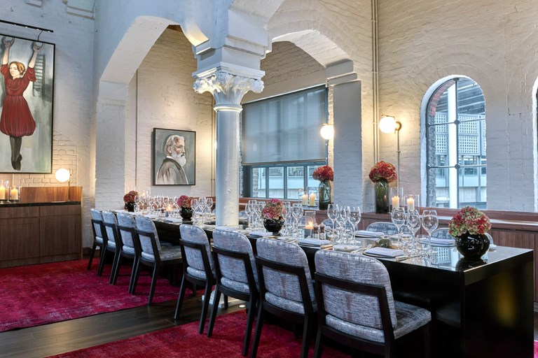 German gymnasium king s cross london bookatable for Dining room zetter townhouse