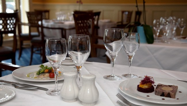 Reserve a table at Harcourts Restaurant at Deans Place Hotel