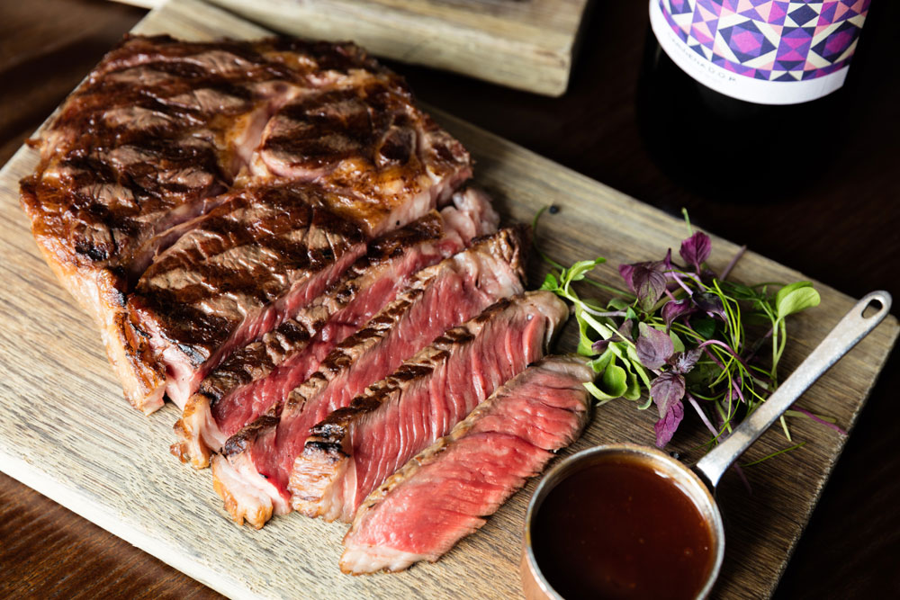 Steak & lobster, fries, glass of champagne & a £50 win chip £20 per person