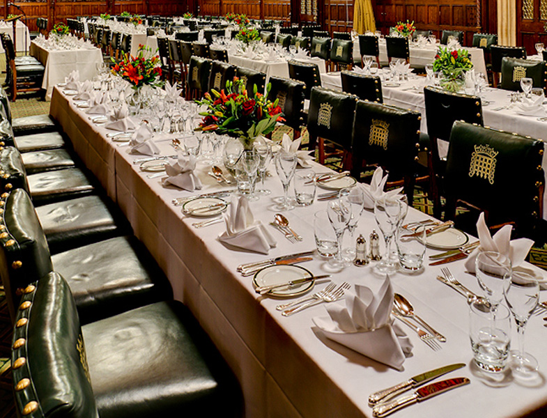 the members' dining room at the house of commons restaurant