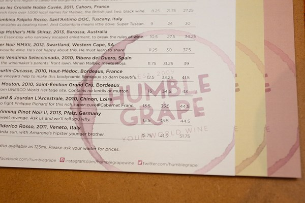 Humble Grape - Fleet Street - London