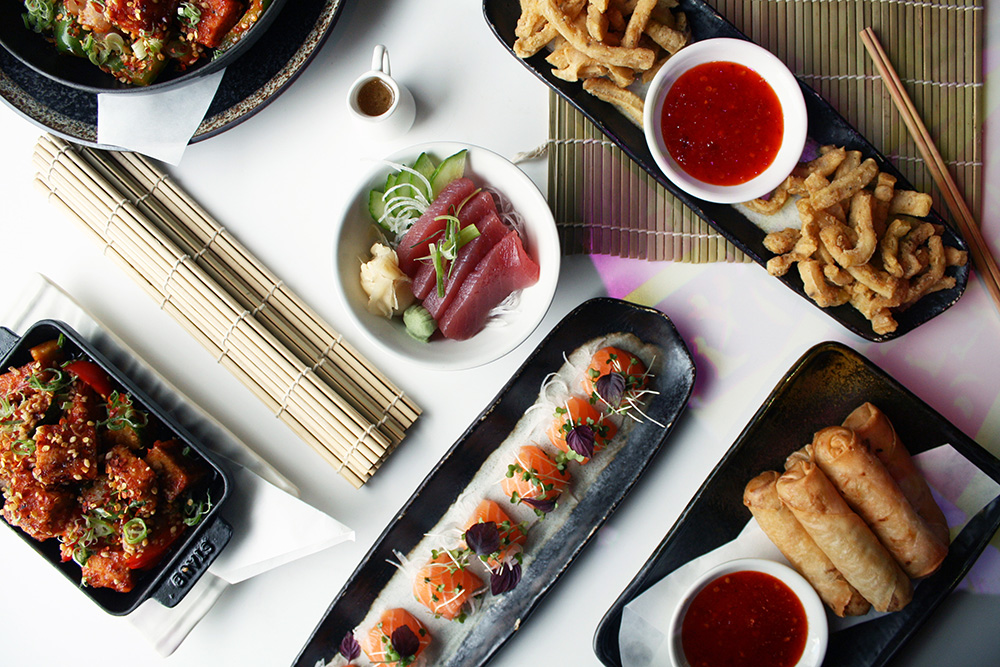 Unlimited Asian tapas & sushi with free-flowing wine or beer £39.95 per person
