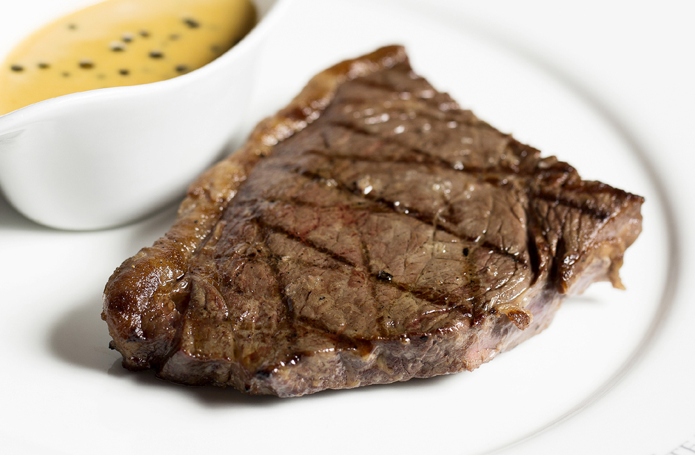 Steak, frites & glass of wine £22 per person