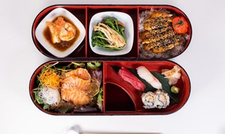 Bento box, dessert & a cocktail £39.50 per person