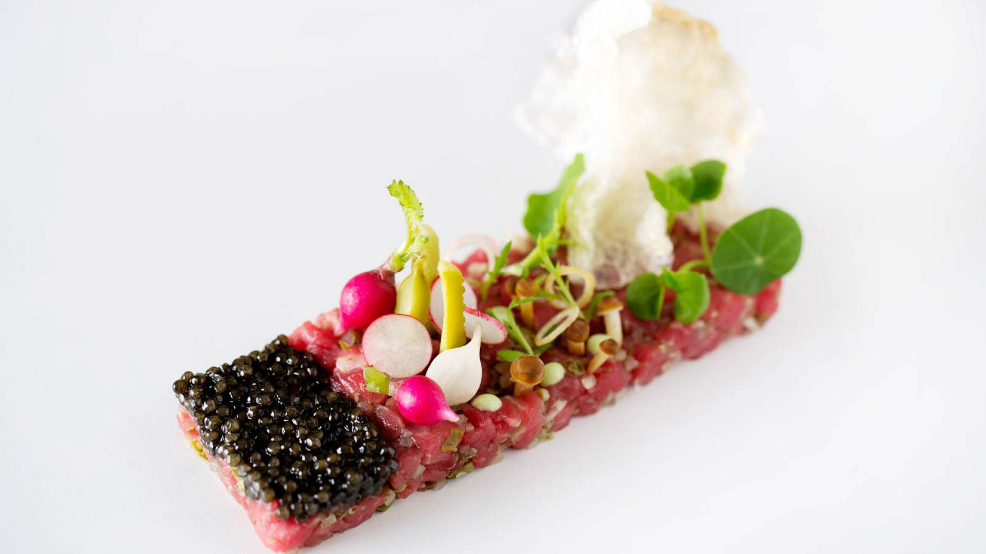 4 courses, a glass of champagne, canapes, amuse bouche & a kitchen tour £50 per person