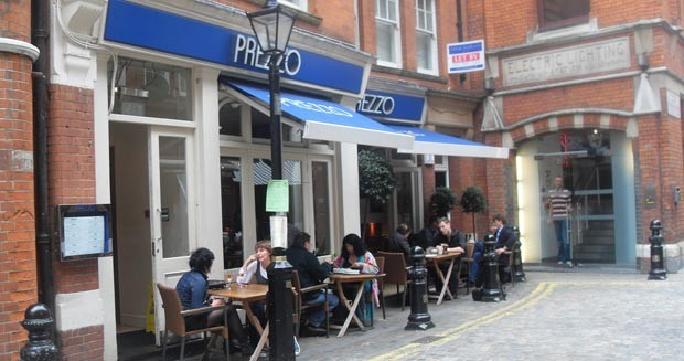 Reserve a table at Prezzo - Kensington