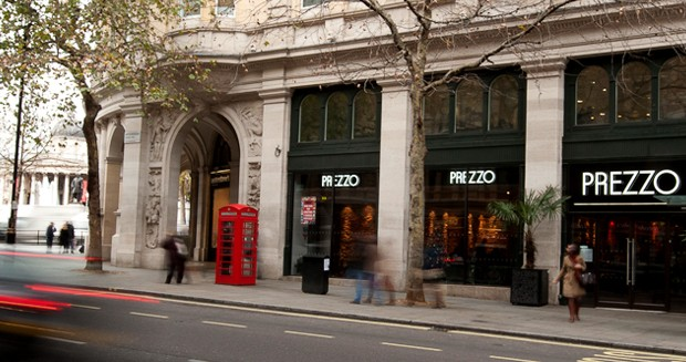 Reserve a table at Prezzo - Trafalgar Square