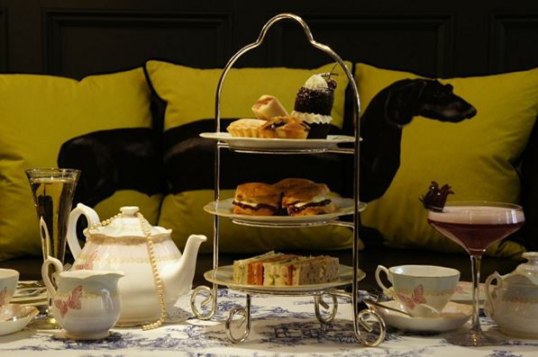 Afternoon tea with unlimited champagne £35 per person
