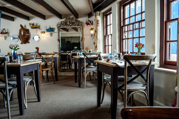 Restaurant at The Port Gaverne Hotel - Cornwall
