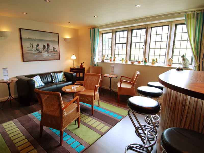Restaurant at Trevalsa Court Hotel - Cornwall