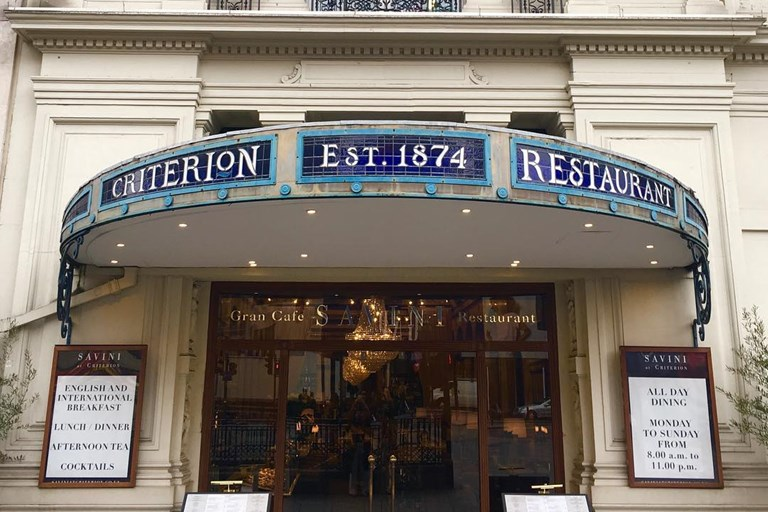 The Criterion Restaurant Menu