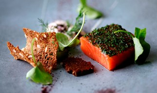 5-course dinner & a glass of champagne £58 per person