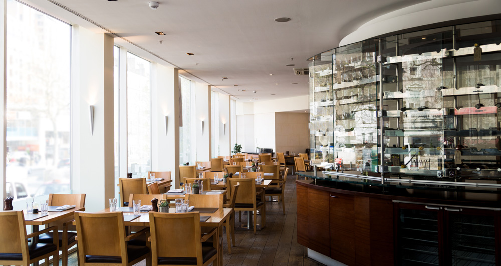 The Atrium Restaurant at London Marriott Hotel Kensington - London