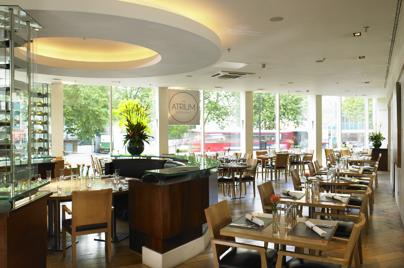 Reserve a table at The Atrium Restaurant at London Marriott Hotel Kensington
