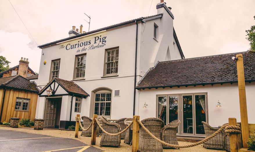 The Curious Pig in the Parlour - Surrey