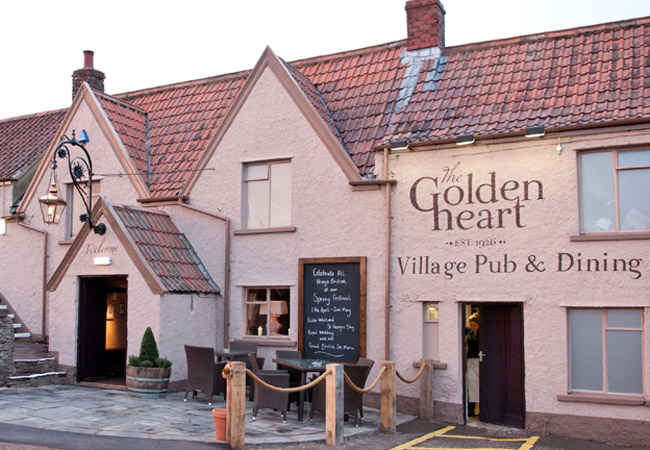 Reserve a table at The Golden Heart in Winterbourne Down