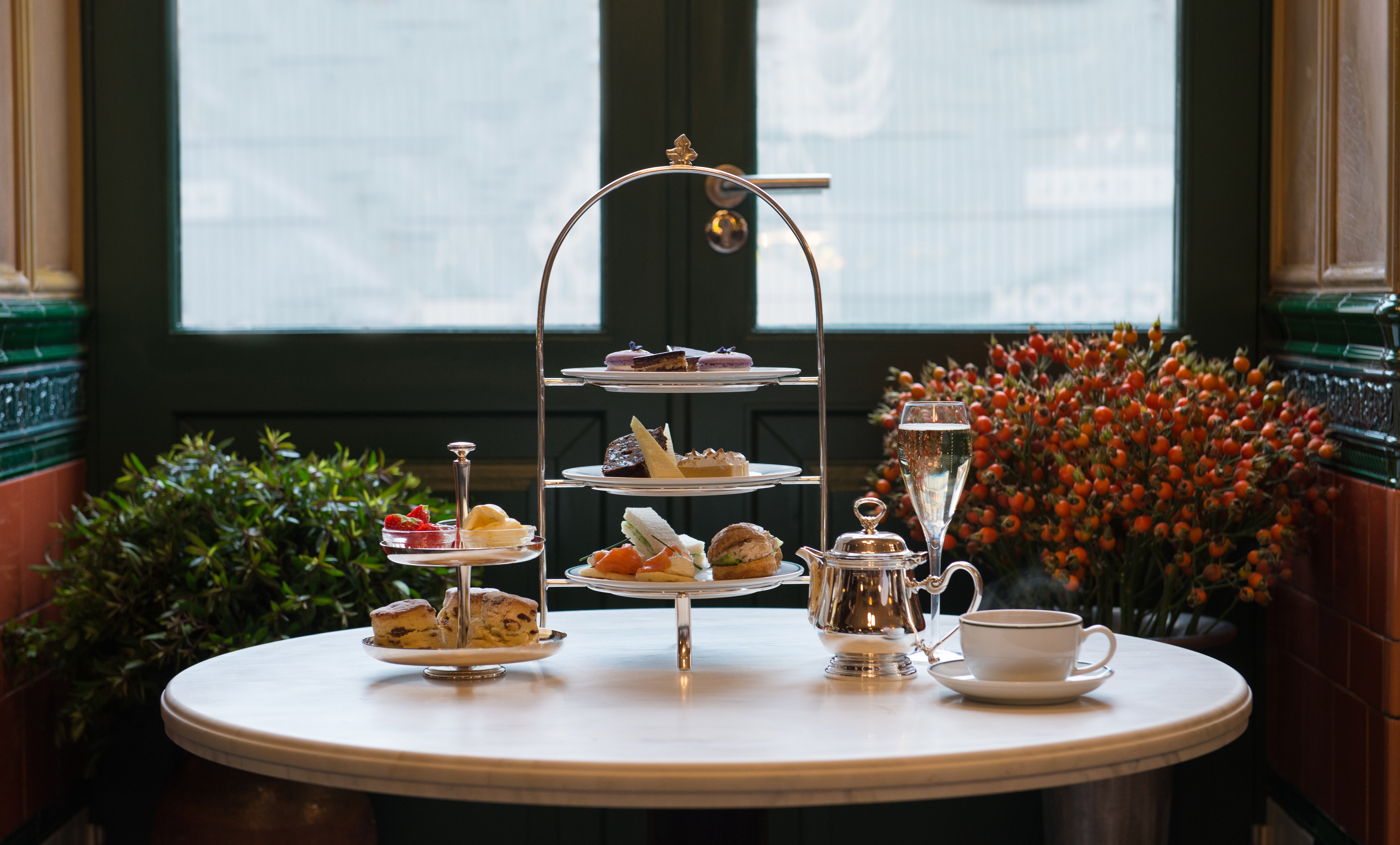 Afternoon tea & a glass of champagne £25 per person