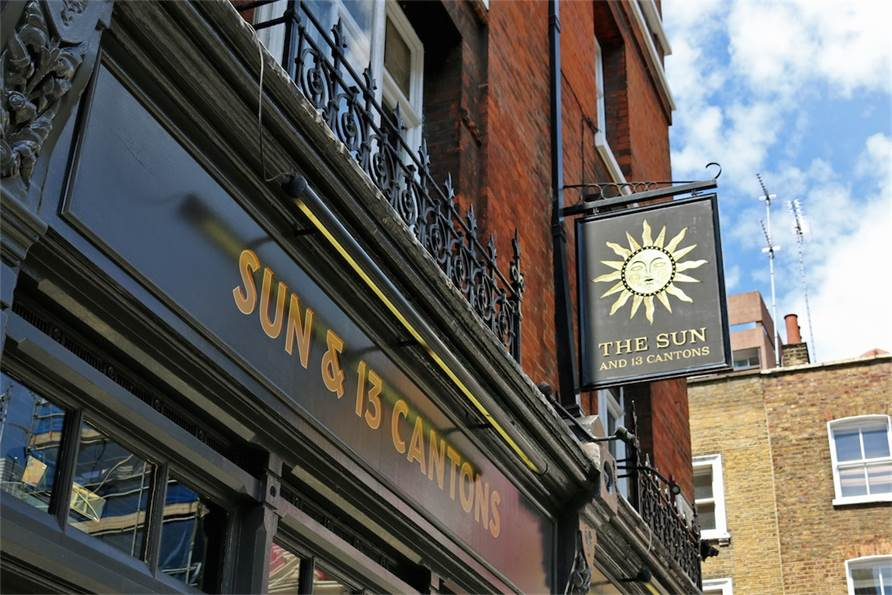 The Sun & 13 Cantons - London