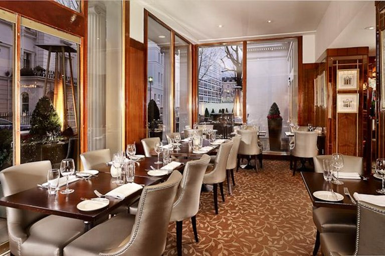The terrace restaurant at the blakemore hyde park hotel for Terrace 45 menu